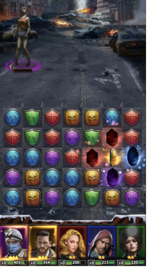 パズル&サバイバル 戦闘
